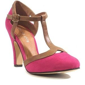 Chelsea Crew Dalia Pump, Pink & Brown, 37